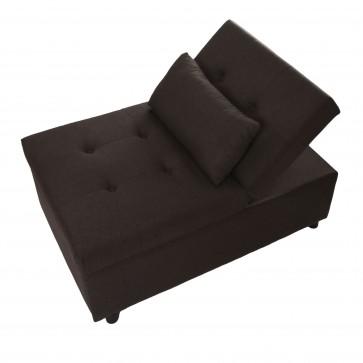 leżanka wielofunkcyjna/ fotel / pufa brąz złożone